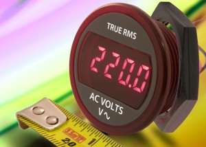 DMR20-1-ACV : True RMS self-powered AC voltmeter fits 30.5 mm / 1.20 inch panel cutout