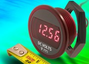 DMR20-10-DCM : Compact self-powered DC panel mount voltmeter suits battery monitoring