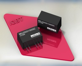 "MGJ2 : Two  Watt DC-DC converter suits ""high/low"" side IGBT drive applications"