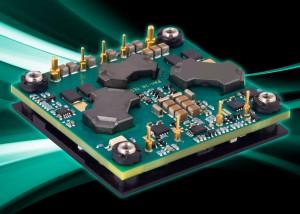 PAH : 93.5% Efficient 450 Watt Baseplate Cooled Half-Brick  DC-DC Converter