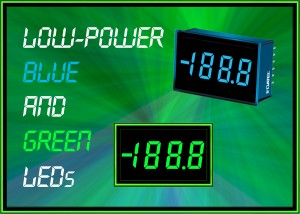 DMS-20PC : Blue and green LED versions added to low-power digital panel voltmeter range