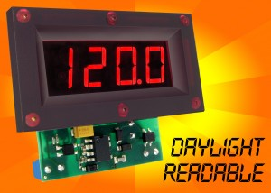 DMU-30ACV & DMU-30DCV : Ruggedised panel-mount voltmeter features super-bright LED display for easy reading in all light conditions