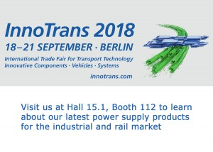 We're exhibiting at InnoTrans 2018